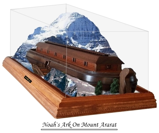 Noahs Ark On Mount Ararat Diorama Model
