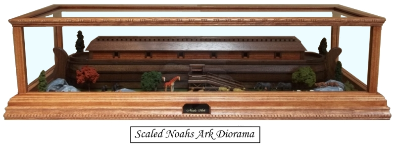 Scaled Noahs Ark Diorama
