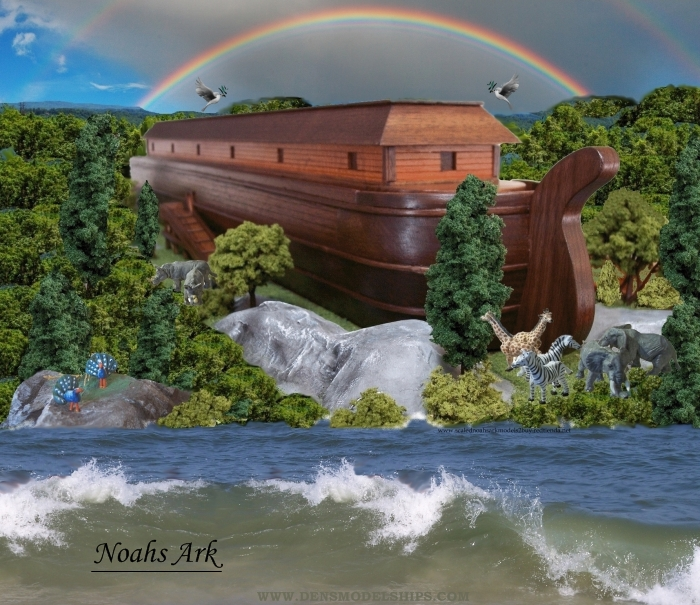 Noahs Ark Diorama made by the, Noahs Ark Model Store
