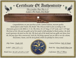 This Certificate of Authenticity comes with the model