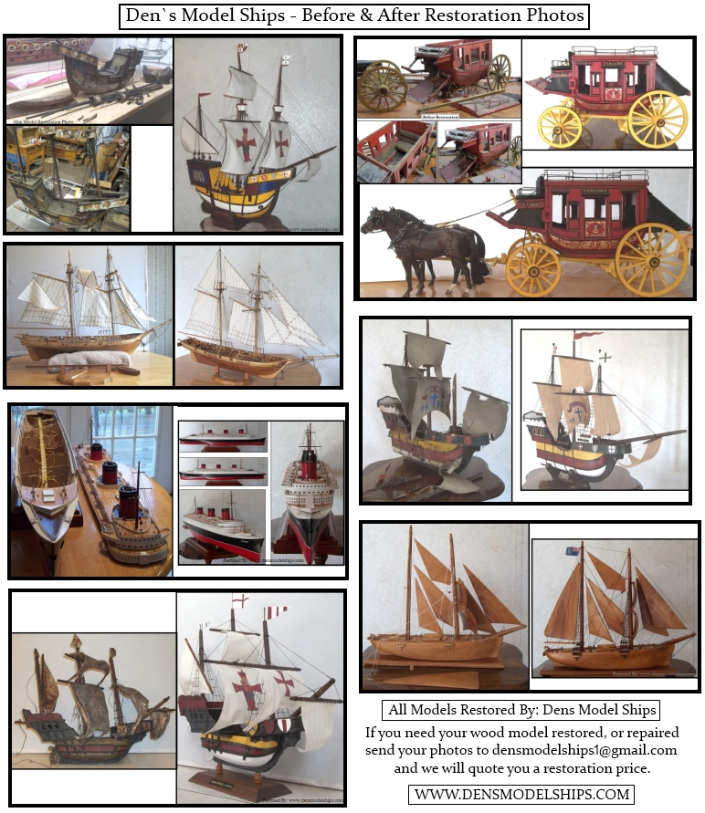 Some Ship Models That We Have Restored