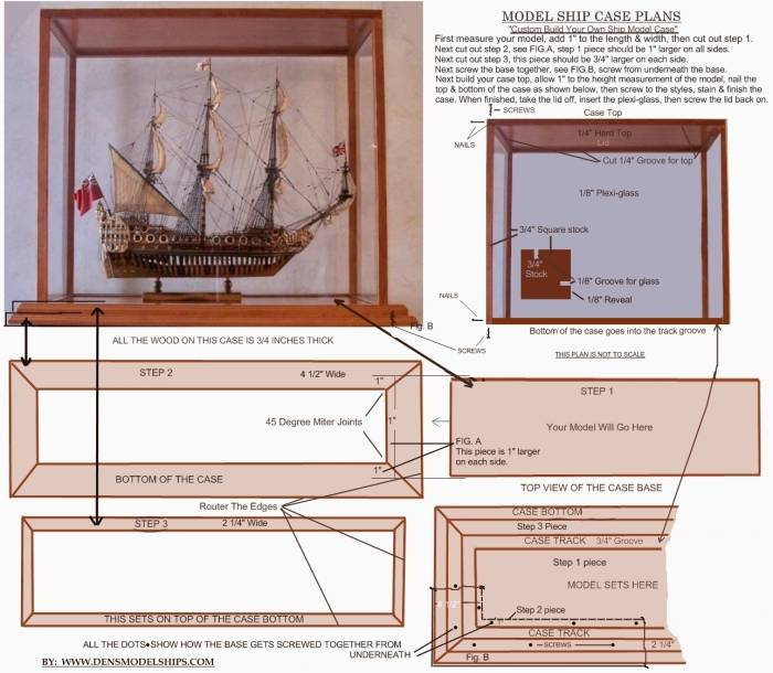 Custom Model Ship Case Plan